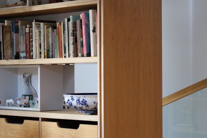 Shelf and drawer detail