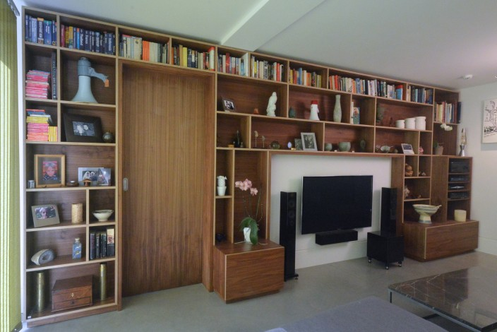 walnut storage wall 2