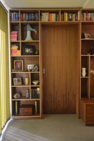walnut storage wall 6
