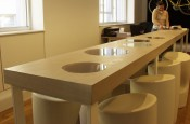 a-vision reception desk & boardroom table
